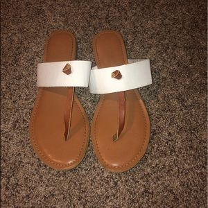 Rampage// Tan and White Sandals